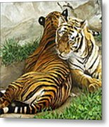 Wild Content Metal Print by Sandra Chase