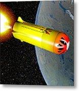 Wild Fire Private Spacecraft, Art Metal Print by Christian Darkin