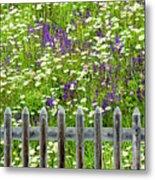 Wild Flowers On A Meadow Metal Print by Jorg Greuel