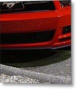 Wild Red Mustang Metal Print