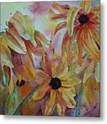 Wild Sunflowers Metal Print