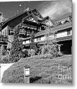 Wilderness Lodge Resort Beach Walt Disney World Prints Black And White Metal Print