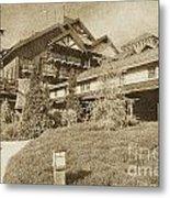 Wilderness Lodge Resort Beach Walt Disney World Prints Vintage Metal Print