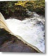 Wilderness Waterfall Autumn Stream Metal Print
