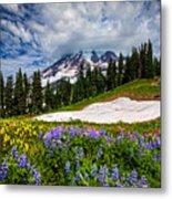 Wildflowers On Mazama Ridge Metal Print