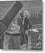 William And Caroline Herschel, German Metal Print