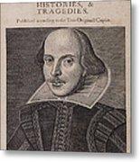 William Shakespeare First Folio Metal Print