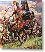 William The Conqueror At The Battle Of Hastings Metal Print