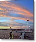 Williams Pier During Sunrise In Gulfport Florida Metal Print
