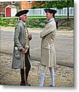 Williamsburg Colonists Metal Print