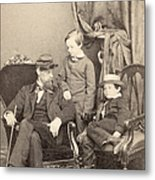 Willie & Tad Lincoln, 1862 Metal Print