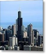 Willis Sears Tower 02 Chicago Metal Print