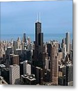 Willis Sears Tower 03 Chicago Metal Print