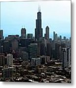 Willis Sears Tower 04 Chicago Metal Print