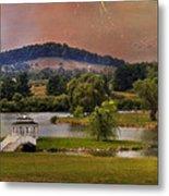 Willow Lake Series II  Metal Print by Kathy Jennings