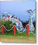 Wilma The Whale Metal Print