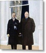 Wilson & Taft: White House Metal Print