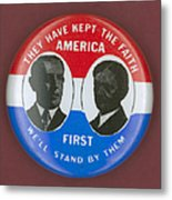 Wilson Campaign Button Metal Print