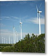 Wind At Work Metal Print