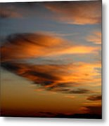Wind Blown Sunset Sunset Clouds Over Mount Taylor Metal Print