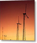 Wind Power For Agriculture Metal Print