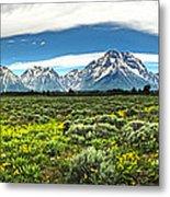 Wind River Range In West Central Wyoming - 02 Metal Print