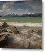 Wind Storm On Lake Pukaki Metal Print