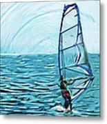 Wind Surfer Metal Print