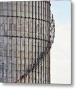 Winding Aluminum Stairs Metal Print
