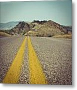 Winding American Highway Metal Print by Ray Devlin