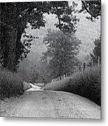 Winding Rural Road Metal Print