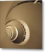 Winding Staircase, Katakolon, Greece Metal Print