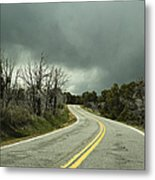 Winding Two Lane Road Metal Print by Ned Frisk