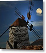 Windmill Against Sky Metal Print by Ernie Watchorn