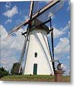 Windmill And Blue Sky Metal Print by Carol Groenen