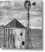 Windmill And Shack Metal Print