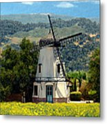 Windmill At Mission Meadows Solvang Metal Print