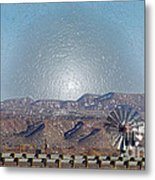 Windmill Culture Clash Metal Print