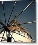 windmill Greece Metal Print by Joana Kruse