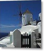 Windmill Greek Islands Metal Print