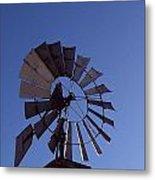 Windmill In Blue  Metal Print