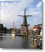 Windmill In The Nederlands Metal Print