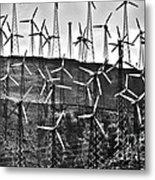 Windmills By Tehachapi  Metal Print by Susanne Van Hulst