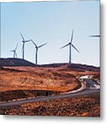 Windmills Near El Chorro Metal Print