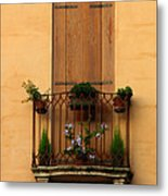 Window And Balcony In Vicenza Metal Print