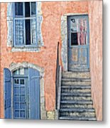Window And Doors Provence France Metal Print