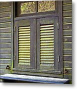 Window And Moss Metal Print by Carlos Caetano