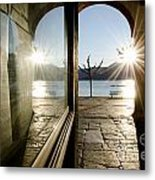 Window And Sun Metal Print