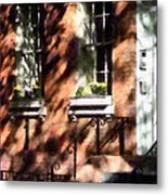 Window Boxes Greenwich Village Metal Print