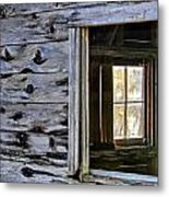 Window Frame Metal Print